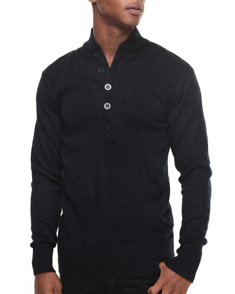 Rothco - Men Black Rothco G.I. Style 5-Button Sweater - $34.99