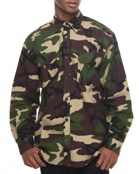 Rothco Men Rothco Extra Heavyweight Camo Flannel Shirts Camo Medium
