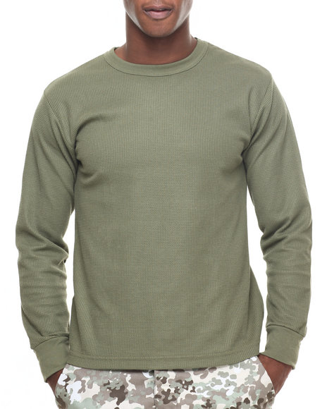 Rothco Men Rothco Thermal Knit Underwear Top Olive Drab Small