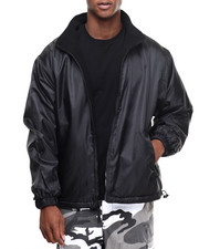 Men - Rothco Black Reversible Fleece-Lined Nylon Jacket