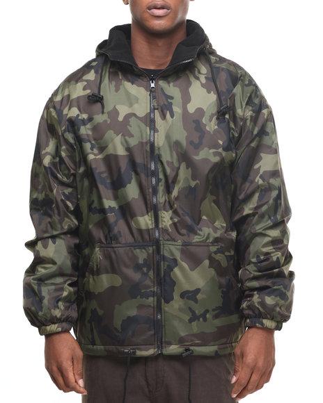 Rothco Men Rothco Reversible Lined Jacket With Hood Woodland Camo Medium
