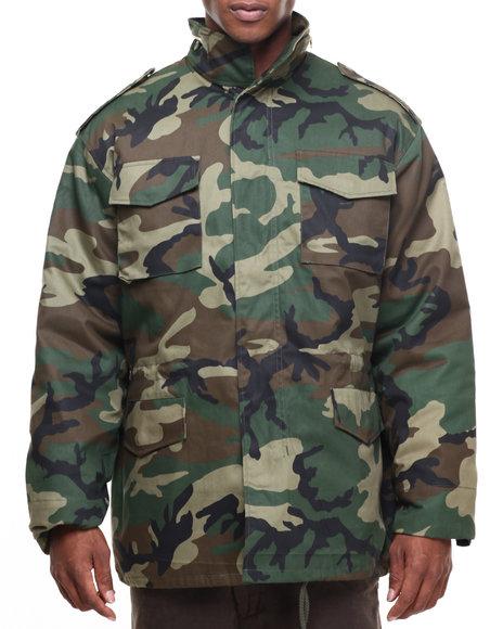 Rothco Men Rothco M-65 Camo Field Jacket Woodland Camo Large