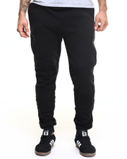 Men - Pleated Jogger w Stripes