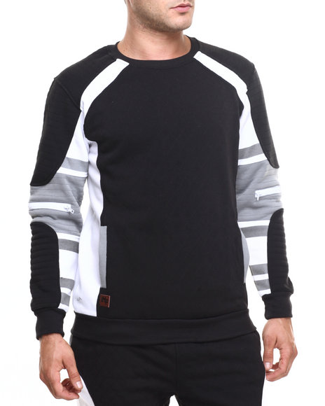 Buyers Picks - Men Black Contrast Quilted Sweatshirt