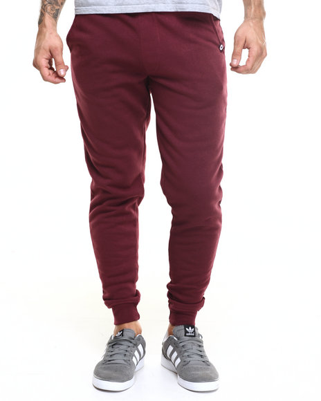 Akademiks - Men Maroon Core Jogger Sweatpants