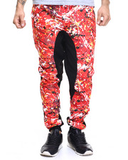 Men - Jogger w Paint Splatter Print