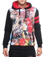 Men - Tribal Full Zip Hoodie