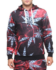 Men - Diamond Leaf All Over Print Hoodie