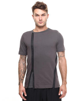 Short-Sleeve - DBL Layer Zip Detail Tee