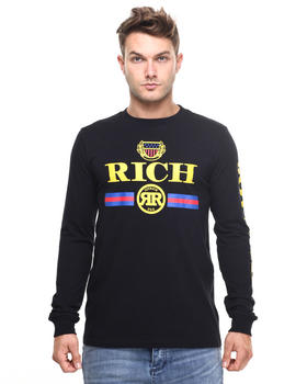 -FEATURES- - RICH EMBLEM L/S TEE