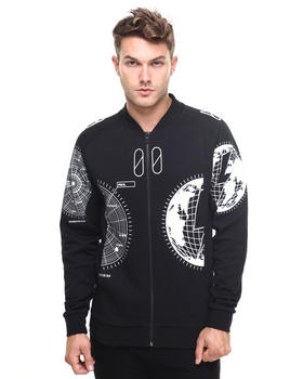 Men - GLOBE-PRINT BOMBER JACKET