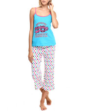 Intimates & Sleepwear - Modeling Academy Dotted Cotton Capri PJ Set