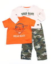 Sets - 3 PC SET - THERMAL, TEE, & CAMO PANTS (INFANT)