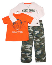 Boys - 3 PC SET - THERMAL, TEE, & CAMO PANTS (4-7)