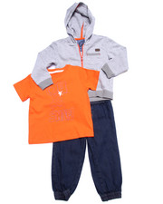 Boys - 3 PC SET - HOODY, TEE, & DENIM JOGGERS (2T-4T)