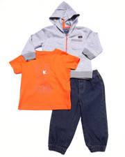 Sets - 3 PC SET - HOODY, TEE, & DENIM JOGGERS (INFANT)