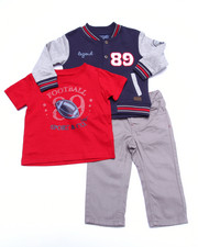 Sets - 3 PC SET - VARSITY JACKET, TEE, & JEANS (INFANT)