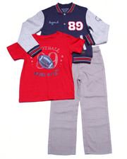 Boys - 3 PC SET - VARSITY JACKET, TEE, & JEANS (4-7)