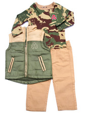 Sets - 3 PC SET - PUFF VEST, CAMO THERMAL, & PANTS (INFANT)