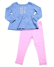 Sets - CHAMBRAY DRESS & LEGGINGS (2T-4T)