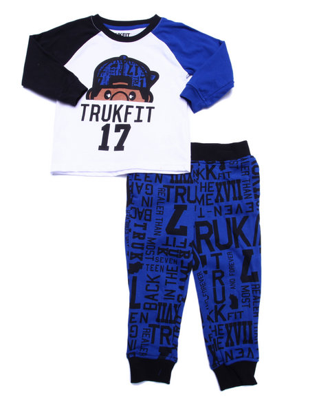 Trukfit - Boys Blue 2 Pc Lil' Tommy Jogger Set (2T-4T)