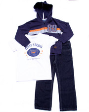 Sizes 4-7x - Kids - 3 PC SET - HOODY, TEE, & DENIM JOGGERS (4-7)