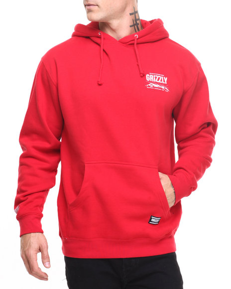 Grizzly Griptape - Men Red Grizzly Dawn Hoodie