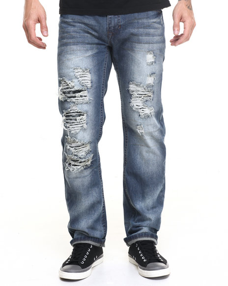 Buyers Picks - Men Dark Indigo Dark Blast Ripped Jean
