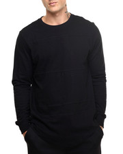 Men - Olympic scallop bottom L/S Shirt