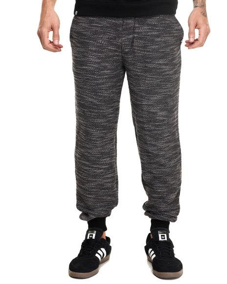 Akademiks Men Commanco Texture Specialty Knit Jogger Black Small