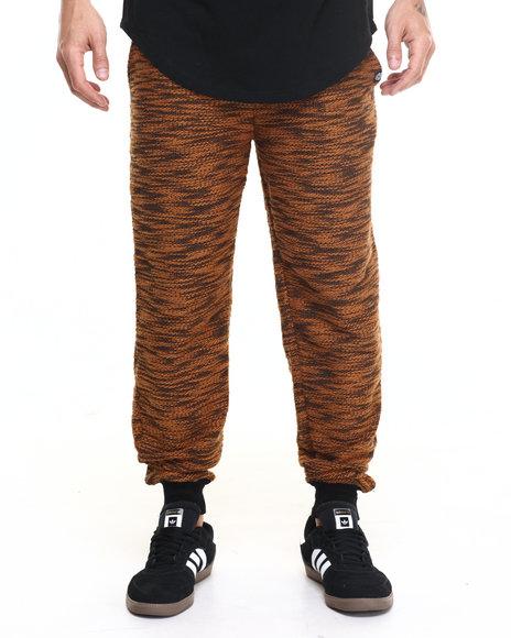 Akademiks Men Viper Specialty Knit Jogger Pants Tan XX-Large