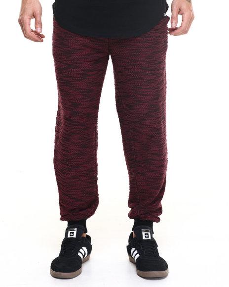 Akademiks Men Viper Specialty Knit Jogger Pants Maroon X-Large