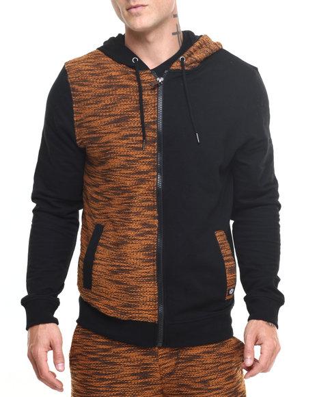 Akademiks Men Hawk Specialty Knit Full Zip Hoody Tan X-Large
