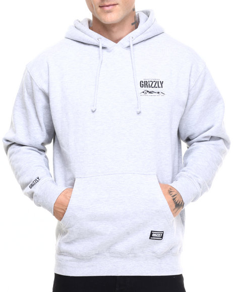 Grizzly Griptape Grey Hoodies