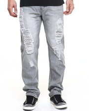 Buyers Picks - Grey Distressed Reg Fit  Jean