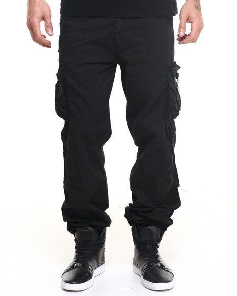 Basic Essentials - Men Black Jet - Style Cargo Pants