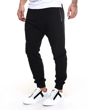 Men - Mesh Panel Sweatpants
