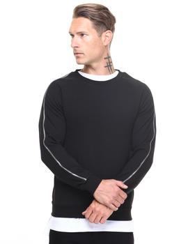 Men - Crewneck Zipper Sleeve Detail