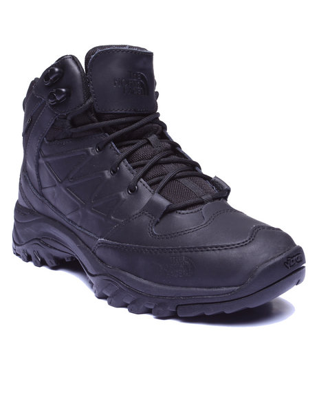 The North Face - Men Black Storm Waterproof Leather Mid Boots