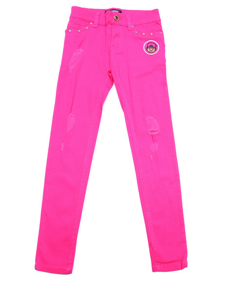 Trukfit - Girls Pink Distressed Jeans (7-16)