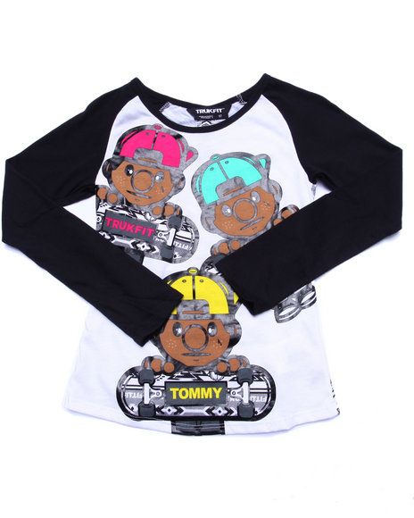Trukfit - Girls White Lil' Tommy Aztec Tee (7-16)