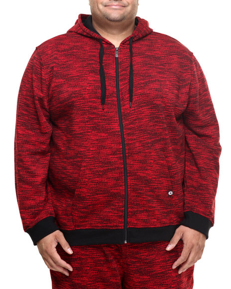 Akademiks - Men Red All Over Fly Knit Full Zip Hoody (B&T)