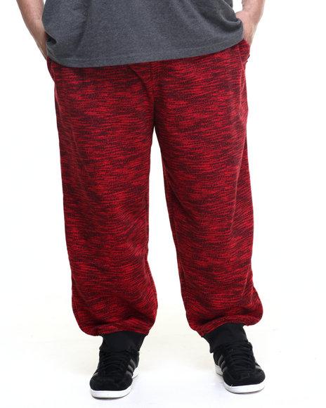 Akademiks - Men Red Fly Knit Jogger Sweatpants (B&T)
