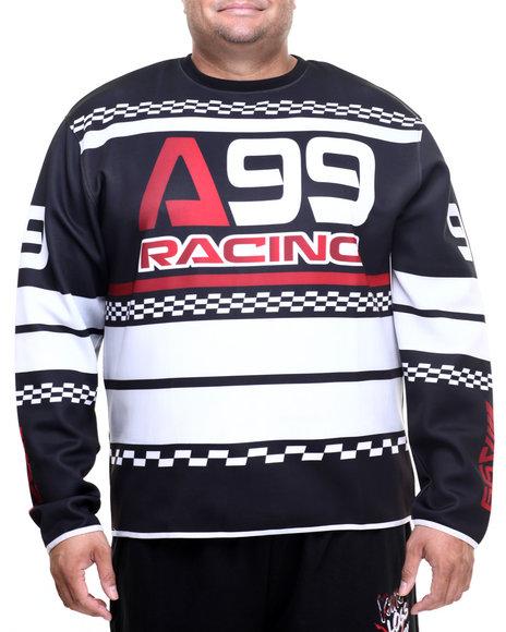 Akademiks - Men Black Charger Ponte L/S Shirt (B&T)