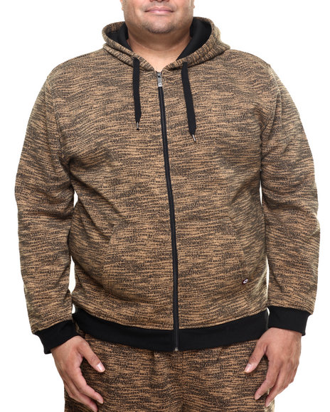 Akademiks - Men Wheat All Over Fly Knit Full Zip Hoody (B&T)
