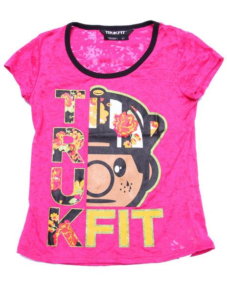 Trukfit - Girls Pink Floral Trukfit Tee (7-16)