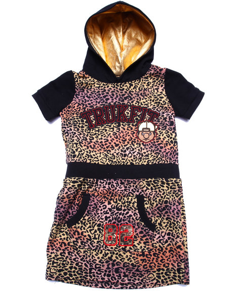 Trukfit Girls Leopard Trukfit Dress (716) Animal Print 16 (XL)