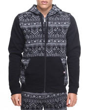 Deals-Men - Aztec cut & sewn hoodie