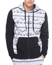 Men - Aztec cut & sewn hoodie