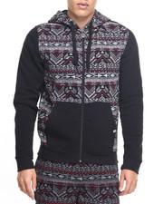 Akademiks - Aztec cut & sewn hoodie